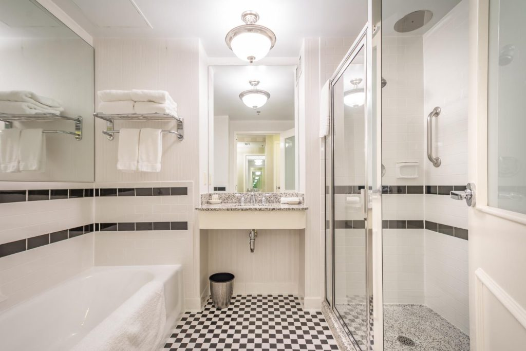 Bathroom at O.Henry Hotel in Greensboro, NC