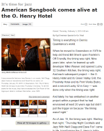 GoTriad Feature of O.Henry Hotel Cocktails and Jazz