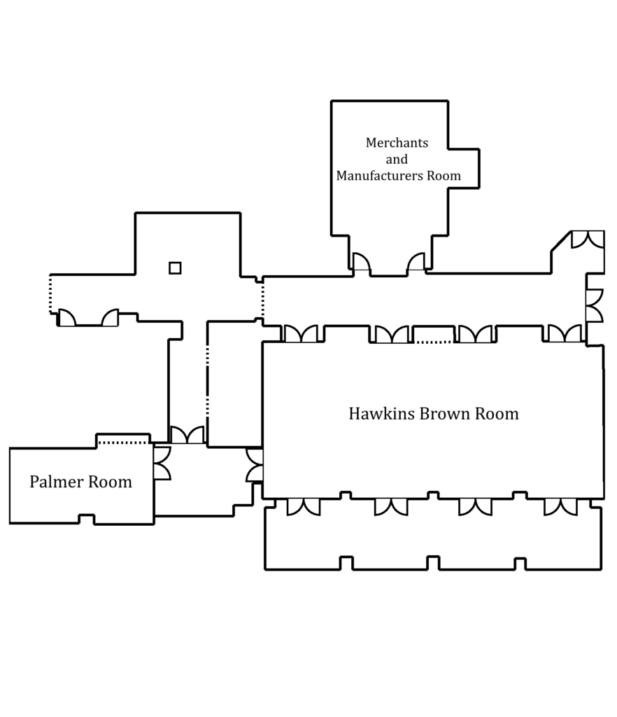 Palmer room with terrace level event spaces layout