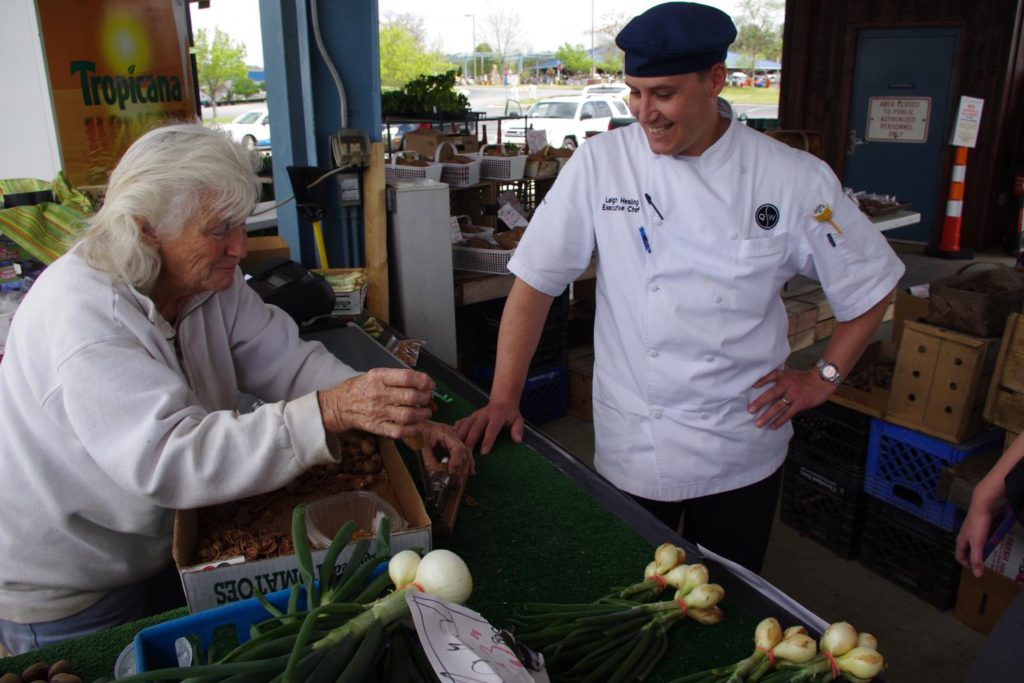 Chef Leigh Hesling at Piedmont Triad Farmers Market