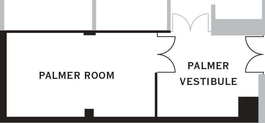 Palmer Room Layout at O.Henry Hotel in Greensboro, NC