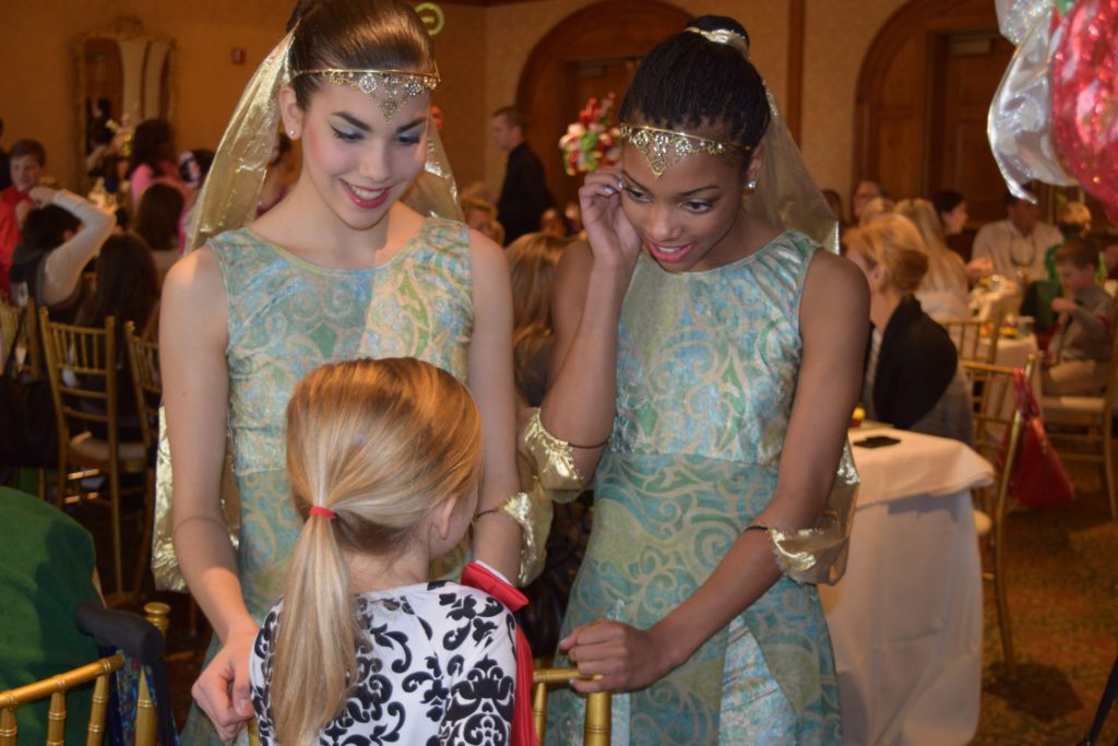 Dancers mingle with guests at the Holiday Nutcracker Tea at O.Henry Hotel