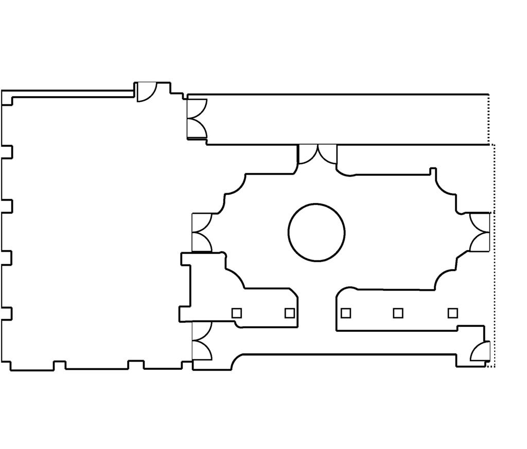 Pavilion & Cloister Garden floorplan