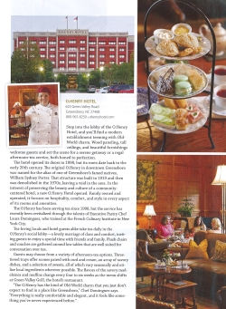 TeaTime Magazine Article about O.Henry Hotel