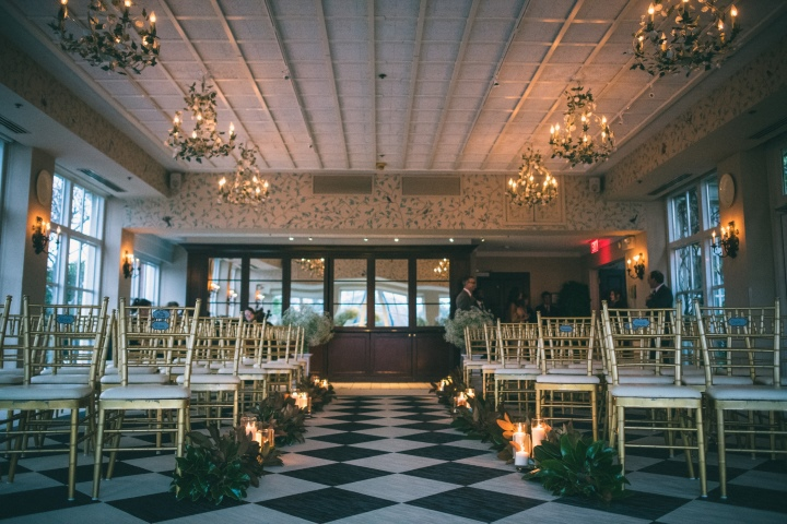 Wedding Ceremony in Pavilion Room at O.Henry Hotel