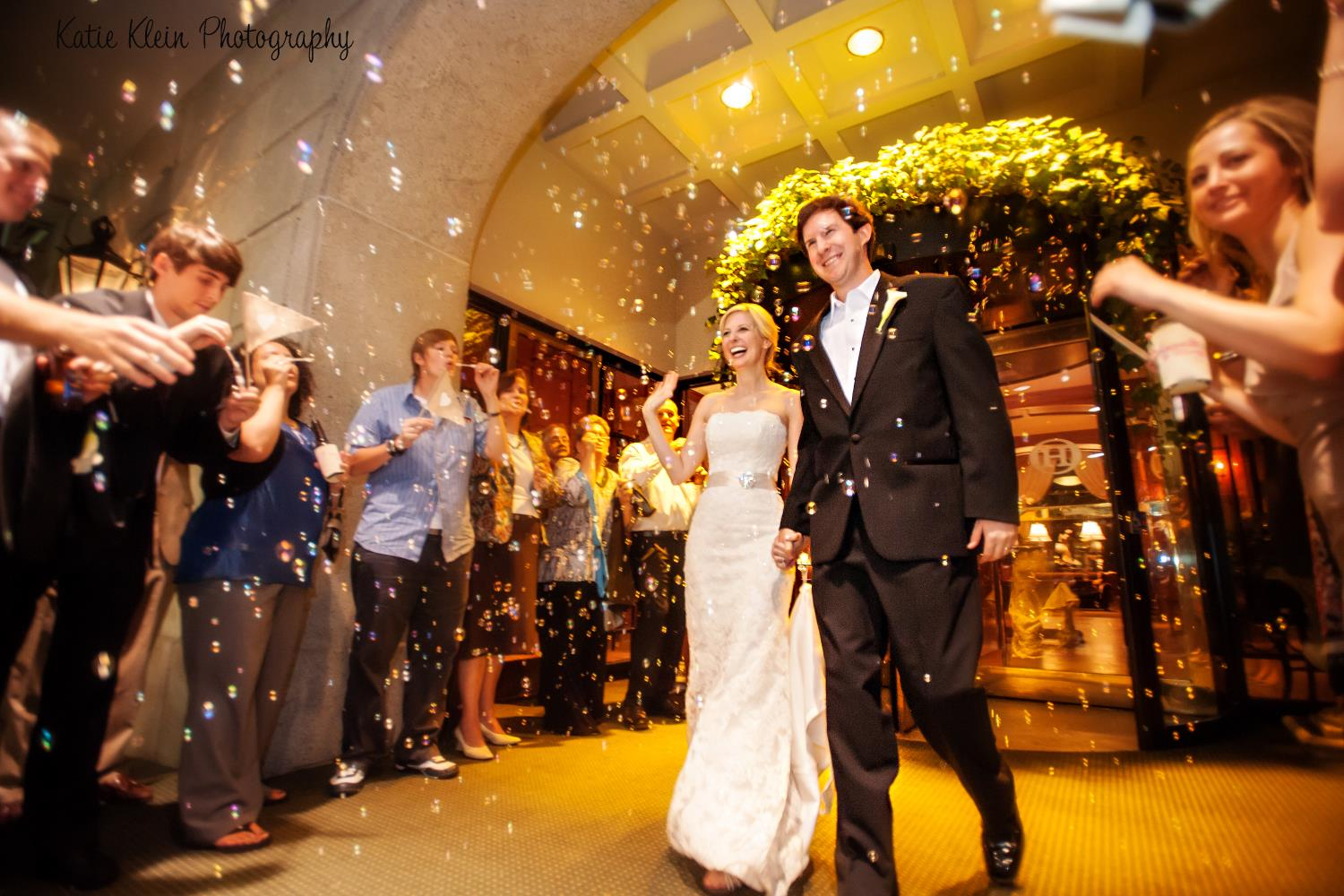 Wedding Recessional at Front of O.Henry Hotel