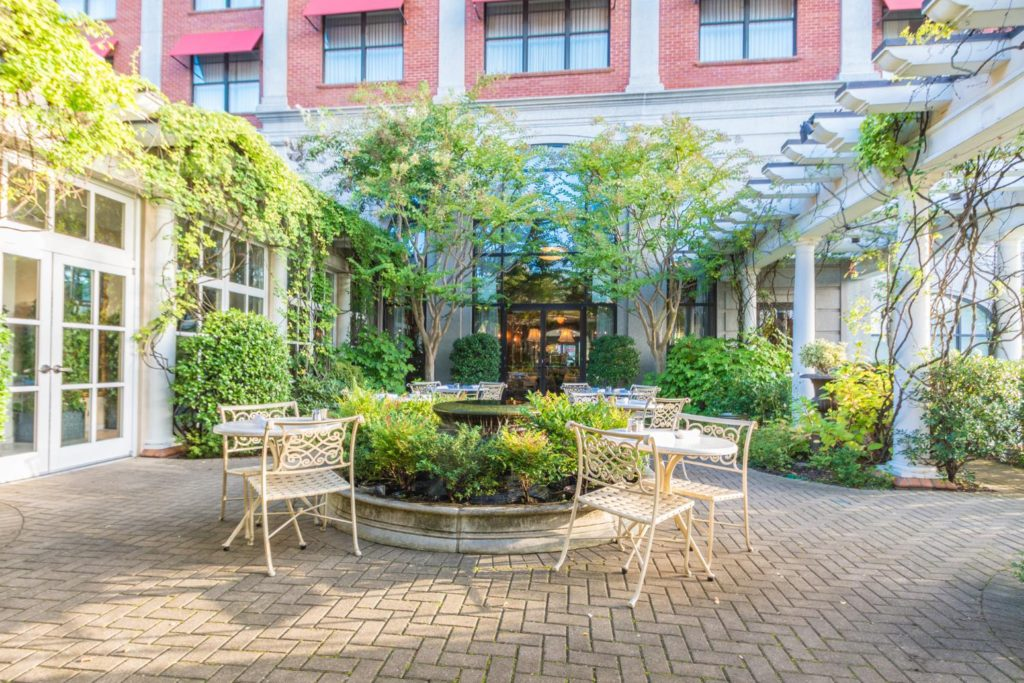 Don Rives Cloister Garden at O.Henry Hotel in Greensboro, NC