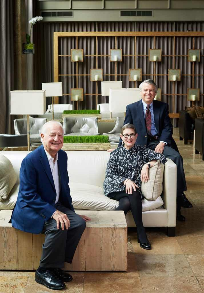 Dennis, Nancy and Mike Weaver in Proximity Hotel
