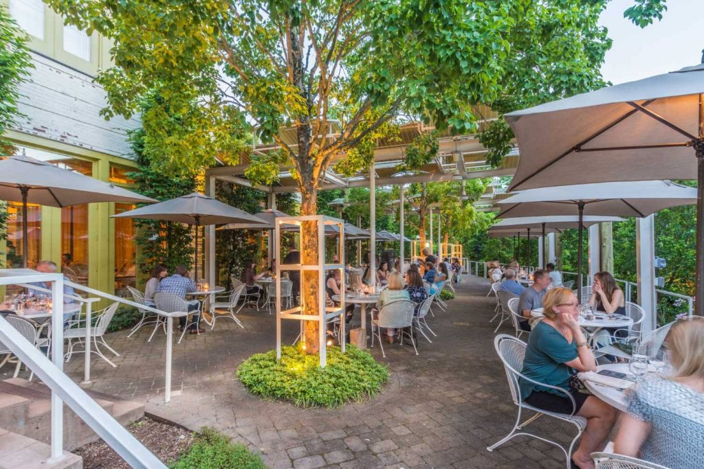 Print Works Bistro al fresco dining