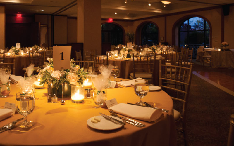 O.Henry Hotel Weddings - Diana and Thomas tables