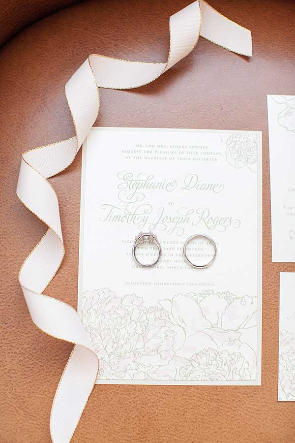 Weddings at O.Henry Hotel with Stephanie and Tim's Wedding Invitations