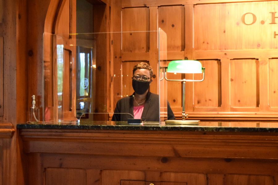 OHenry Front Desk Staff with Mask